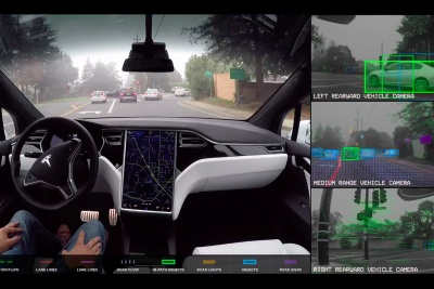 A picture of what Tesla cars detect